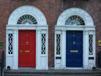 Two different coloured doors