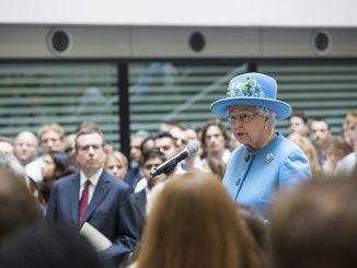 the Queen making a speech