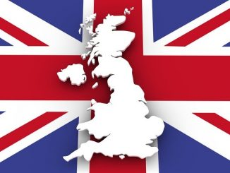 british flag with white Britain on top