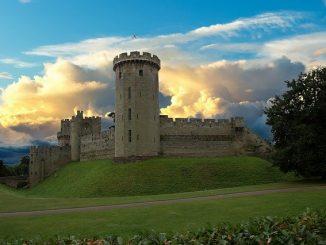 Landscape of Warwick Castle
