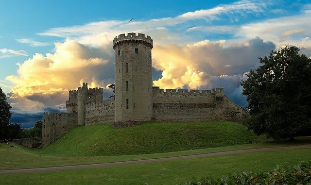 Landscape of Warwick Castle