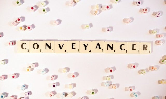 conveyancer written in scrabble letters