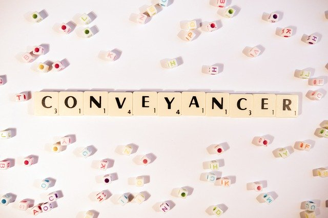conveyancer written in scrabble letters